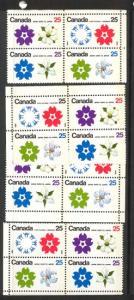 Canada - 1970 Expo Winnipeg Tagged Blocks mint #511b Matched Set of Corners
