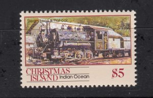J28374, 1990 christmas island hv of set mnh #269 steam train