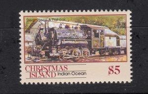 J28374, 1990 christmas island hv of set mnh #269 steam train