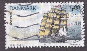 Denmark # 988, Training Ship, Used, 1/3 Cat.