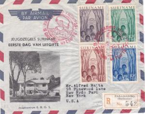 Surinam Scott B58-B61 Typewritten Address.