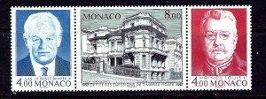 Monaco 1562 MNH 1987 strip of 3  #2