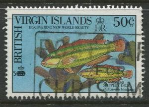 Virgin Is.- Scott 670 -Fish-Slippery Dick -1990 - Used - Single 50c Stamp