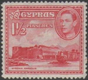 Cyprus 19381½pi carmine MH