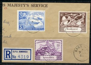Dominica # 116-118 on piece