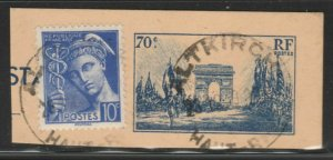 FRANCE Postal Stationery Cut Out A14P8F232