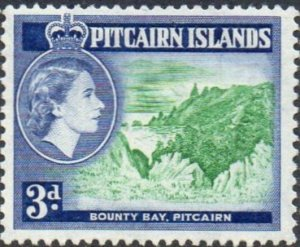 Pitcairn Islands 1957   3d Bounty Bay  MH