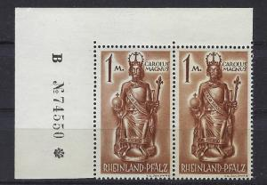 Germany - under French occupation Scott # 6N15; mint nh,pair, var plate #