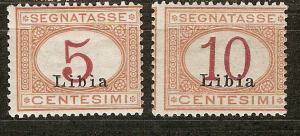 Libya J1-2 SG D17-18 MLH Fine 1915 SCV $5.00