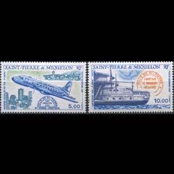 ST.PIERRE 1987 - Scott# C61-2 Planes Set of 2 NH