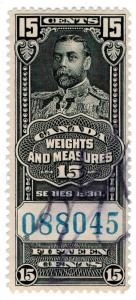 (I.B) Canada Revenue : Weights & Measures 15c