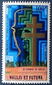 Wallis and Futuna Islands C72 MNH De Gaulle Memorial (SCV $8.75)