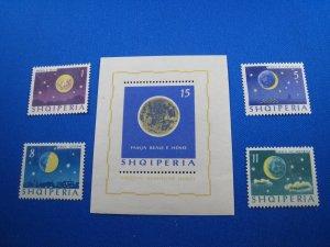 ALBANIA 1964 - SCOTT # 740-744   MNH