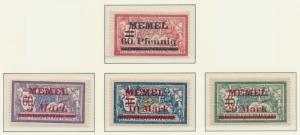 Memel Stamps Scott #39 To 42, Mint Hinged - Free U.S. Shipping, Free Worldwid...