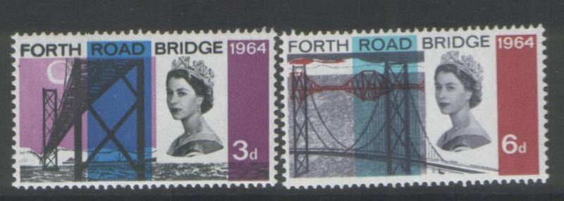 Great Britain 1964 F.R.B. Phosphor (2) Scott #418p-19p