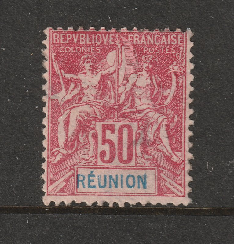 Reunion a 50c a MH 50c red & blue from the 1892 series