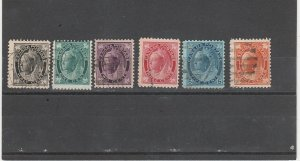 Canada #66-69,70,72 Used QV Maple Leaf Issues