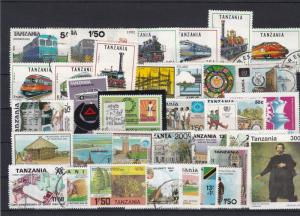 Tanzania Mixed Subject Stamps including Trains Ref 24945