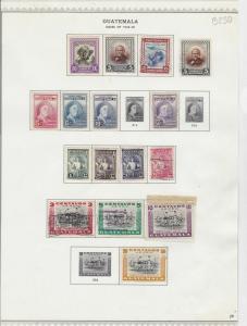 guatemala 1946-48 stamps  ref 10597