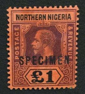 MOMEN: NORTHERN NIGERIA SG #52s SPECIMEN MINT OG H LOT #191501-519