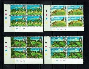 Bermuda: 1971, Golfing in Bermuda  in plate blocks of 4,  Mint