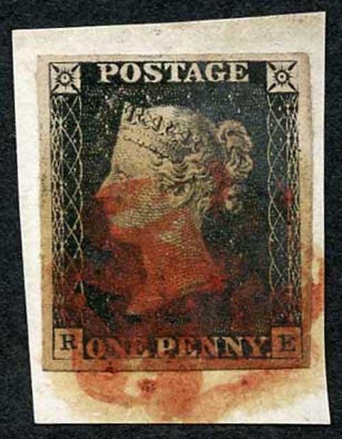 Penny Black (RE) Four good margins on piece