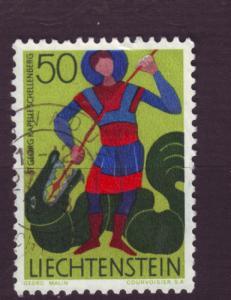 J3350 JLstamps 1967-71 liechtenstein used #434 $0.35v design
