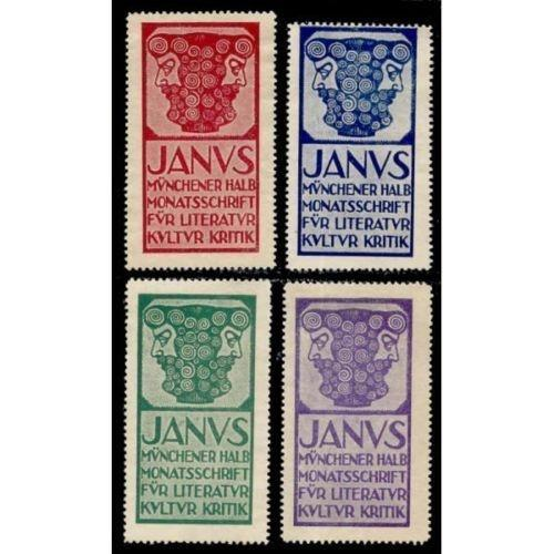 Germany JANUS Magazine Advertising  Poster Stamps