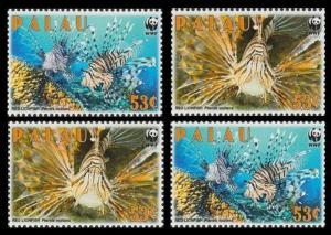 Palau WWF Red Lionfish 4v SC#992 MI#2902-2905