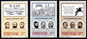 STAMP STATION PERTH Faroe Islands #179-181 Fa174-176 MNH CV$6.50
