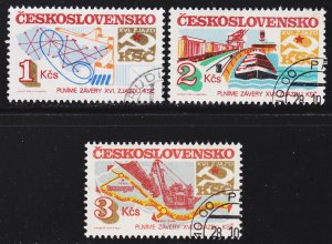 Czechoslovakia Scott 2531-33 VF CTO.