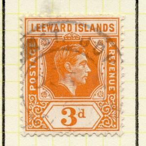 Leeward Islands 1938-51 Early Issue Fine Used 3d. 307655