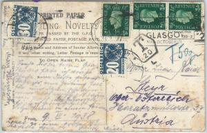 72474 - GB - POSTAL HISTORY:  LONDON postcard to Austria TAXED 1938 POLICE