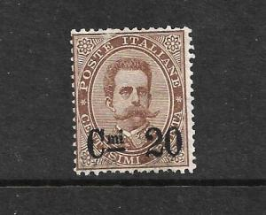 ITALY 1890-91  20c on  30c BROWN  MNG   Sc 65  SG 45