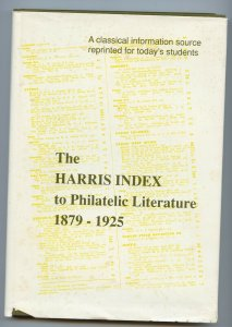 Harris Index of Philatelic Literature 1879 to 1925, hardcover, 157 pages