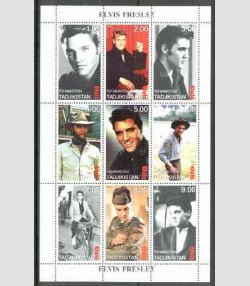 Tadjikistan 1999 Elvis Presley Sheet Perforated mnh.vf