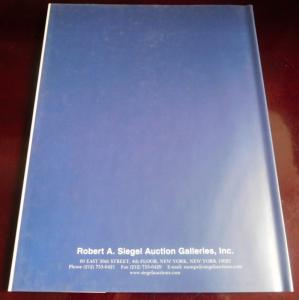 Robert Siegel 2005 Inverted Jenny Plate Number Block Auction Catalog  HC with DJ