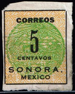 MEXICO STAMP SORONA ISSUE STAMP COLLECTION LOT #6 5C  GREEN