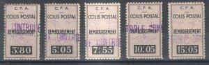 Algeria Y&T 64-68 MLH. 1939 Parcel Post, cplt set of 5, VF