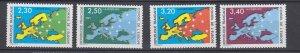J29325, 1990-1 france set mnh #1o47-50 map