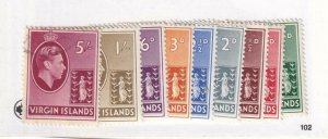 BRITISH VIRGIN ISLANDS # 76-83 VF-MH 85 VF-LIGHT USED KGV1 ISSUES CAT VAL $21+