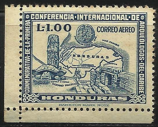 Honduras 1947 Air Mail Scott# C167 MNG (some toning)