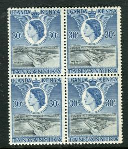 BRITISH KUT; 1954 early QEII issue fine Mint MNH unmounted 30c. Block