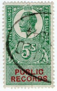 (I.B) George V Revenue : Public Records 5/-