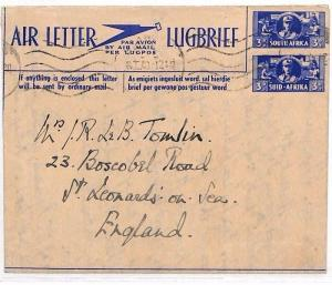 AL26 1946 SOUTH AFRICA Air lettter to GB