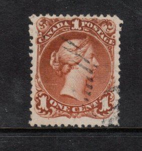 Canada #22a Used Fine - Very Fine Watermarked Showing Two Letters