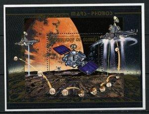Guinea space  1988 M: Block 298 A ARIANE V 14 - HALLEY - GIOTTO