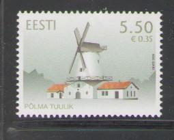 Estonia Sc 602 2008 Polma Windmill stamp mint NH