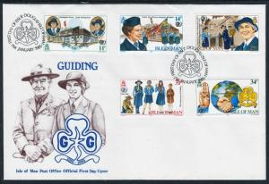 Isle of Man 1985 75th Anniversary of Girl Guide/Scout FDC