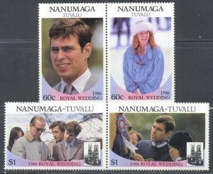 Tuvalu Nanumaga Scott #'s 71 - 72 MNH